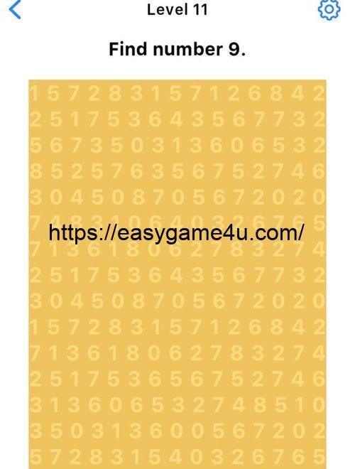 Level 11 - Find number 9