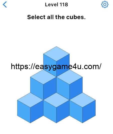 Level 118 - Select all the cubes