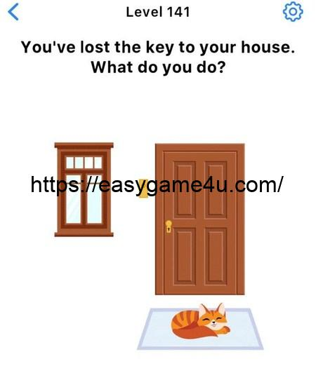 Level 141 - You've lost the key to your house. What do you do?