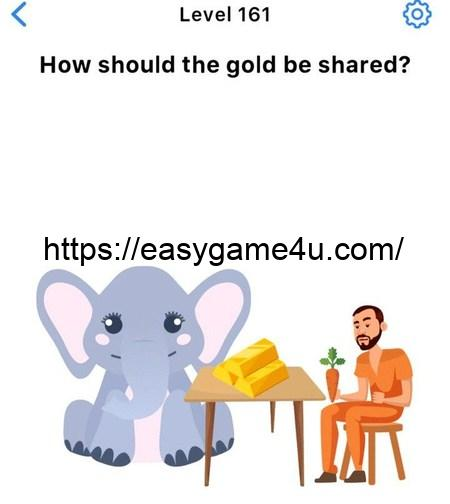 Level 161 - How should the gold be shared?