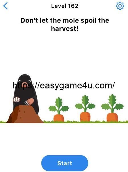 Level 162 - Don't let the mole spoil the harvest!