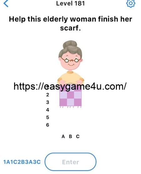 Level 181 - Help this elderly woman finish her scarf