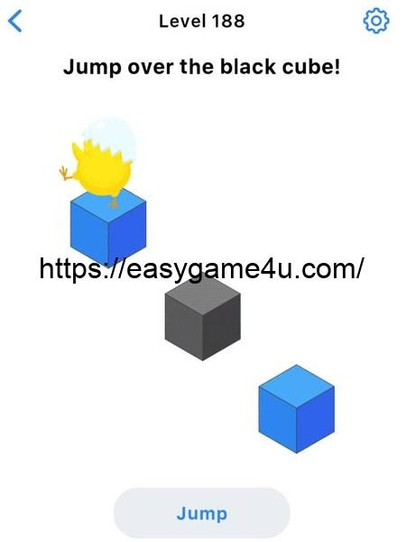 Level 188 - Jump over the black cube!