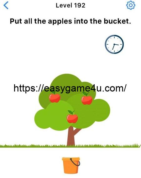 Level 192 - Put all the apples into the bucket