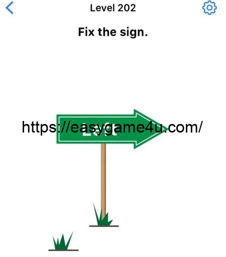 Level 202 - Fix the sign