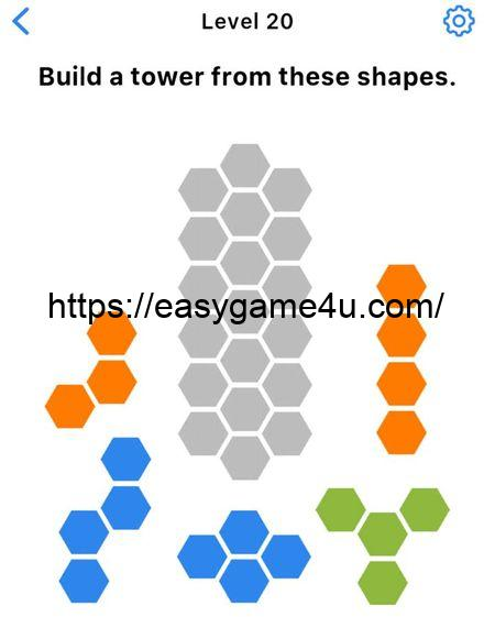 Level 20 - Build a tower from these shapes