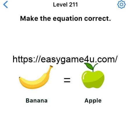 Level 211 - Make the equation correct