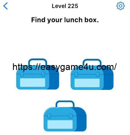 Level 225 - Find your lunch box