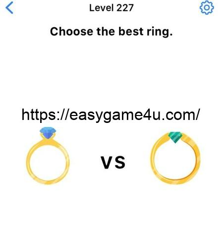 Level 227 - Choose the best ring