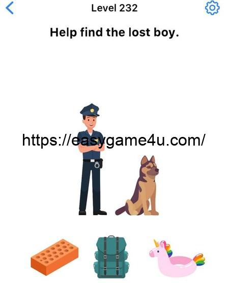 Level 232 - Help find the lost boy