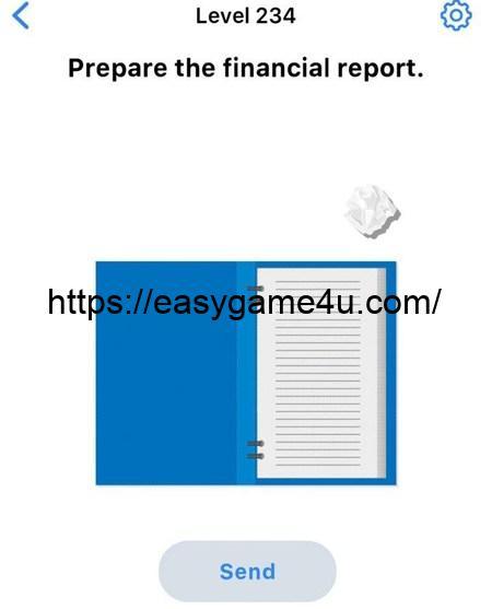 Level 234 - Prepare the financial report