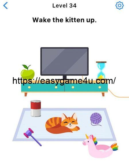 Level 34 - Wake the kitten up