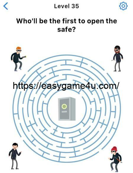 Level 35 - Who'll be the first to open the safe?