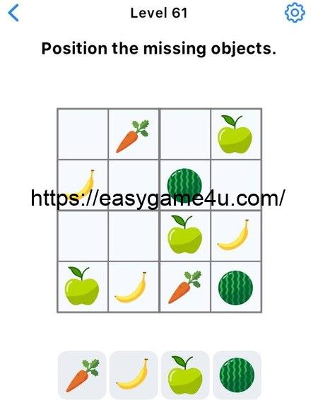 Level 61 - Position the missing objects
