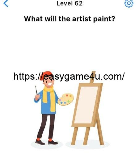 Level 62 - What will the artist paint?