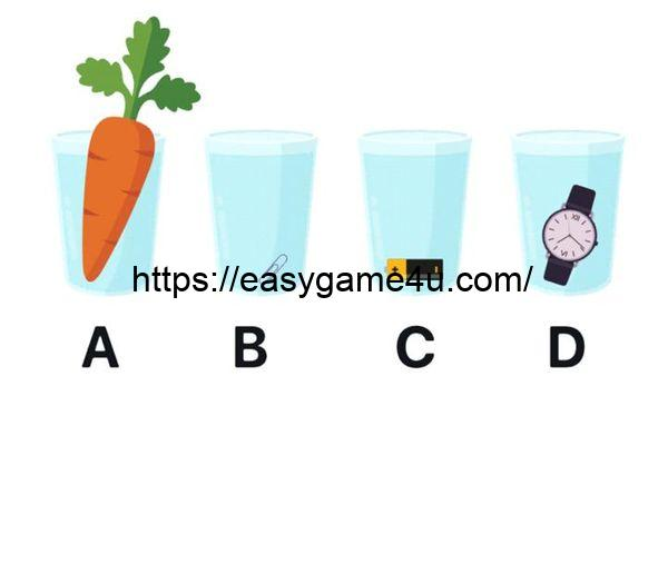 Level 8 - Which glass contains the most water?