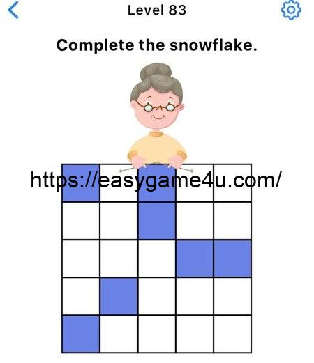 Level 83 - Complete the snowflake