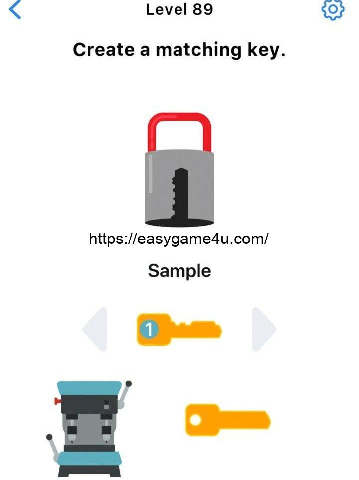 Level 89 - Create a matching key