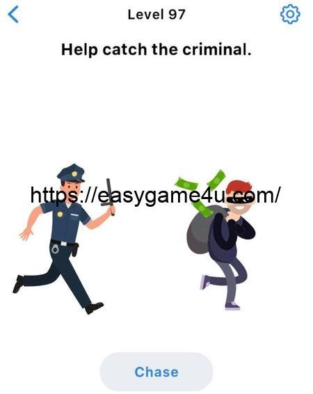Level 97 - Help catch the criminal